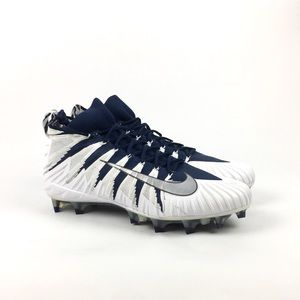 Alpha Menace 'White College Navy' Football Cleats